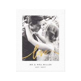Lienzo Amor-lona con guión