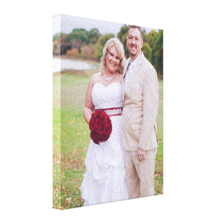 Lienzo Añada la foto del boda o la otra 'lona envuelta s