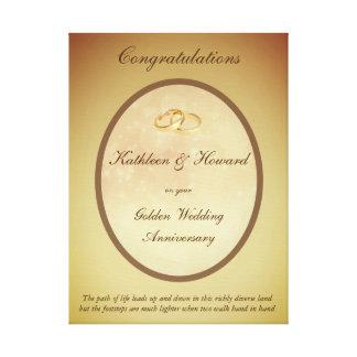 Lienzo Aniversario de boda de oro adaptable