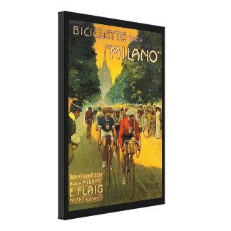 Lienzo Anuncio italiano de la bicicleta del vintage