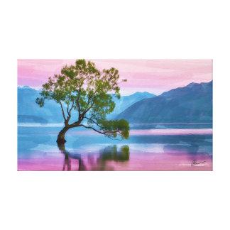 Lienzo Árbol Nueva Zelanda de Wanaka