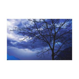 Lienzo árboles sin las hojas en la caída