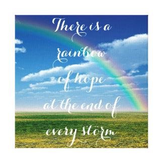 Lienzo Arco iris de la esperanza