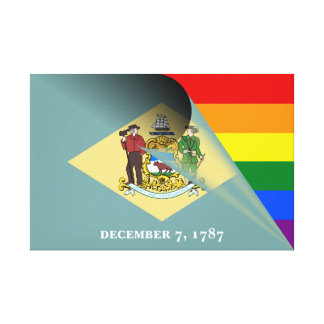 Lienzo Arco iris del orgullo gay de la bandera de