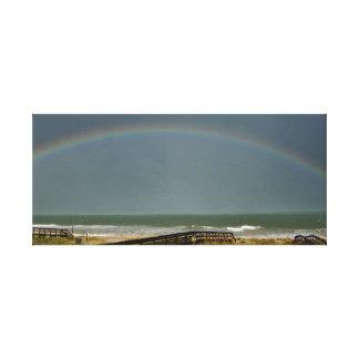 Lienzo Arco iris sobre el Atlántico