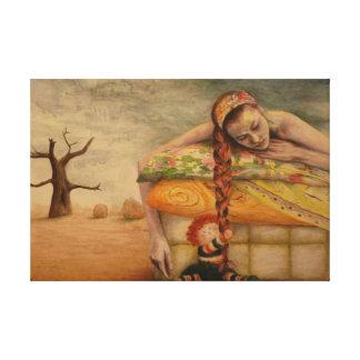 """Lienzo """"Atada"""" acrylic painting by Mayra Melendez"""