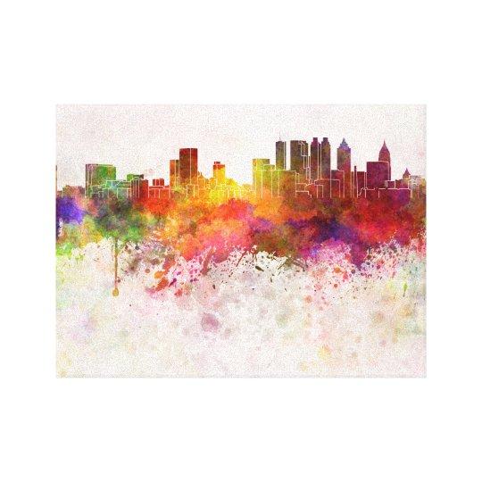 Lienzo Atlanta skyline in watercolor background
