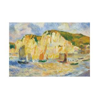 Lienzo Auguste Renoir - mar y acantilados