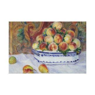 Lienzo Auguste Renoir - todavía vida con los melocotones