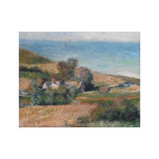 Lienzo Auguste Renoir - vista de la costa