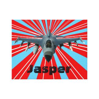Lienzo Avión de combate