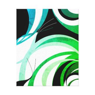 """Lienzo Azul. diseño verde y negro del """"greenleaf"""""""