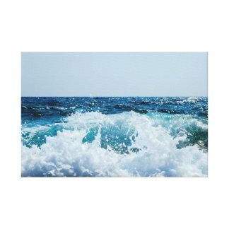 Lienzo Azul fantástico del agua de la playa de la resaca
