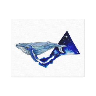 Lienzo ballena del espacio