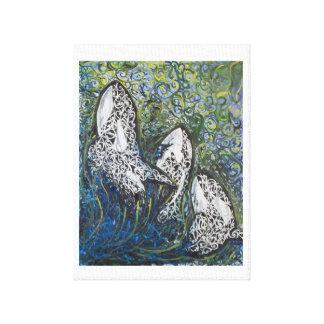 Lienzo Ballenas de Koru