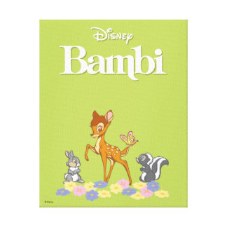 Lienzo Bambi y amigos