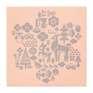 Lienzo Bambi y criaturas del arbolado