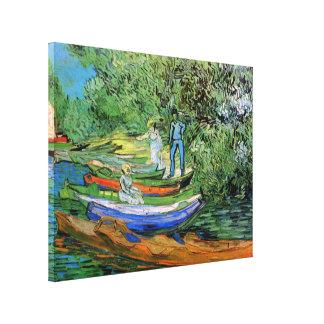 Lienzo Banco del Oise en Auvers de Vincent van Gogh
