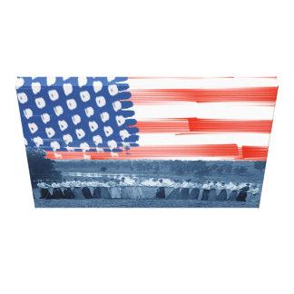 Lienzo bandera americana de la Tirón-O-Guerra del
