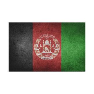Lienzo Bandera apenada de Afganistán