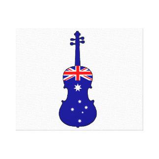 Lienzo Bandera australiana - viola