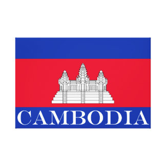 Lienzo Bandera de Camboya
