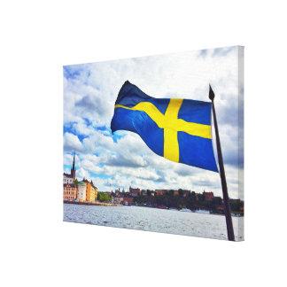 Lienzo Bandera de Suecia