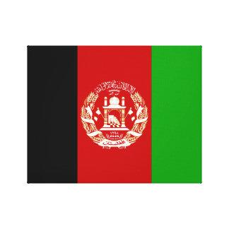 Lienzo Bandera nacional del mundo de Afganistán