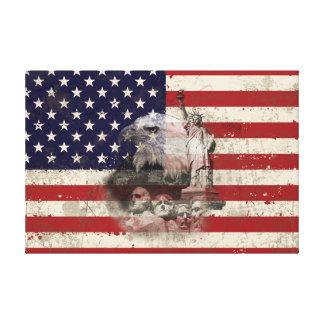 Lienzo Bandera y símbolos de Estados Unidos ID155