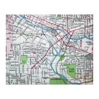 Lienzo BATTLE CREEK, mapa del vintage del MI