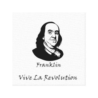 Lienzo Benjamin Franklin - revolución del La de Vive