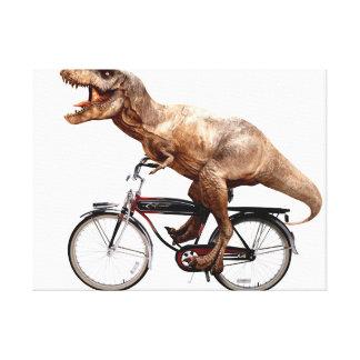 Lienzo Bici del montar a caballo de Trex