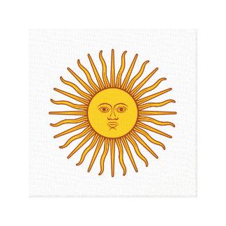 Lienzo Blanco amarillo del símbolo del planeta de la