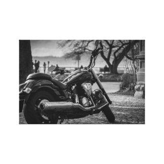 Lienzo Blanco y negro, motocicleta