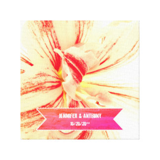 Lienzo Boda de encargo de la flor rayada del Amaryllis