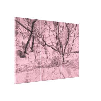 Lienzo Bosque del árbol del extracto del color de fondo