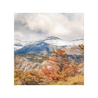 Lienzo Bosque y montañas Nevado, Patagonia, la Argentina