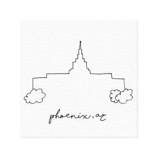 Lienzo bosquejo moderno simple del templo de Phoenix
