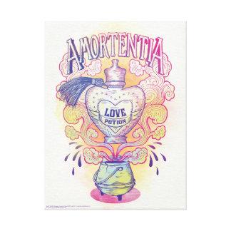 Lienzo Botella de la poción de amor del encanto el |