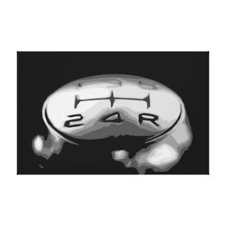 Lienzo Botón del engranaje de un diseño simple del coche