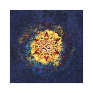 Lienzo Brillo de la estrella en oro y azul