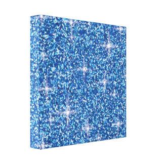 Lienzo Brillo iridiscente azul