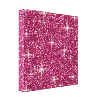Lienzo Brillo iridiscente rosado