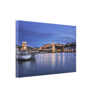 Lienzo Budapest por noche