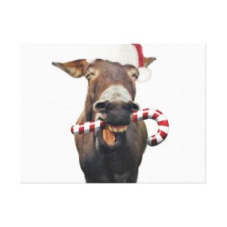 Lienzo Burro del navidad - burro de santa - burro santa