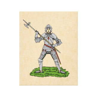 Lienzo Caballero inglés del siglo XV