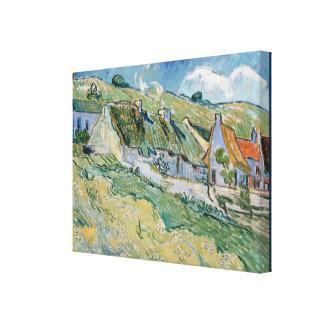 Lienzo Cabañas cubiertas con paja de Vincent van Gogh