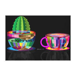 Lienzo cactus y taza