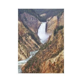 Lienzo Caídas de Yellowstone
