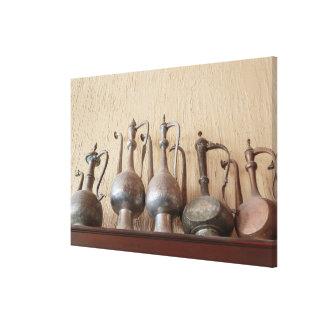 Lienzo Calderas grabadas antigüedad